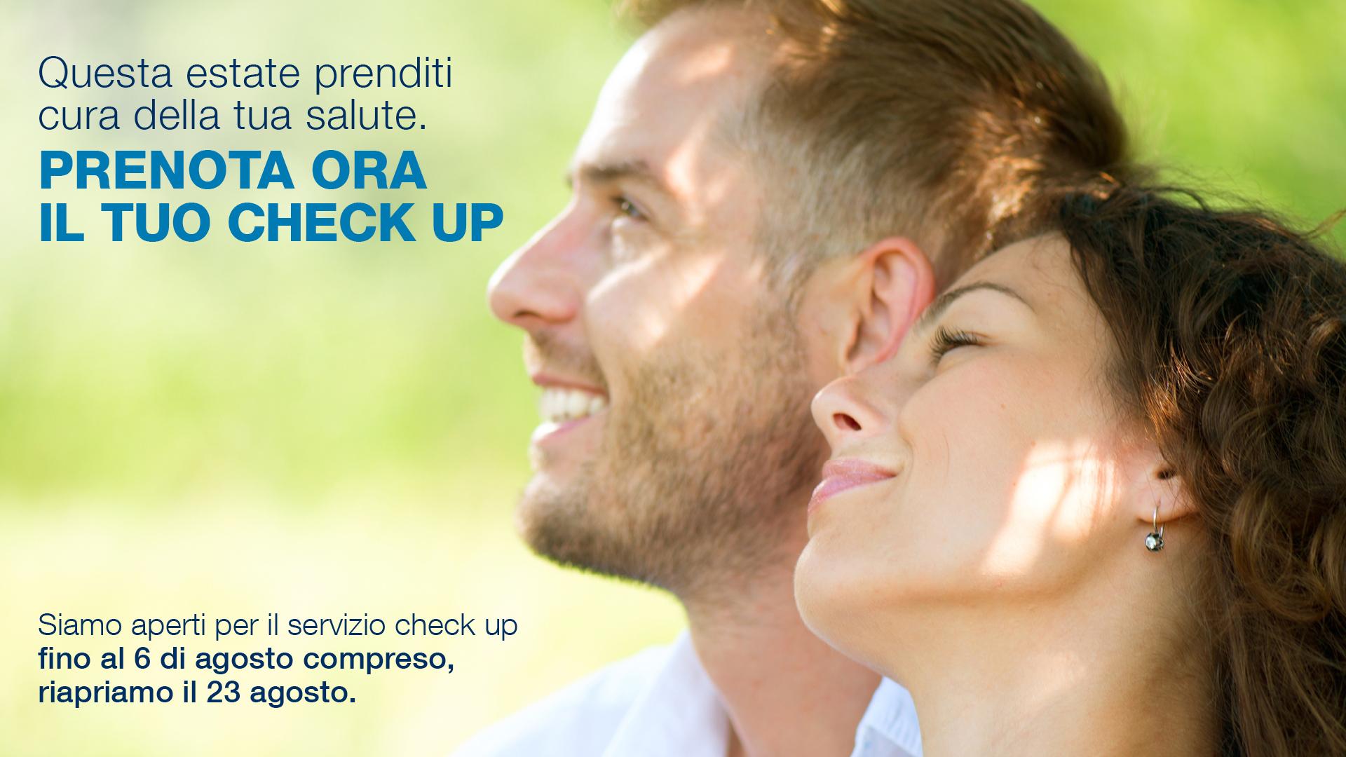 """Servizio Check up: """"questa estate prenditi cura della tua salute"""""""